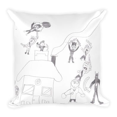 Battle at the Homefront Square Pillow