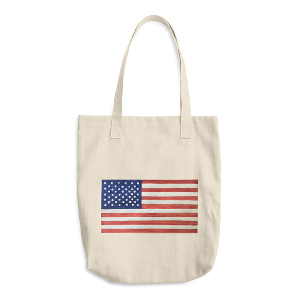 American Flag Cotton Tote Bag