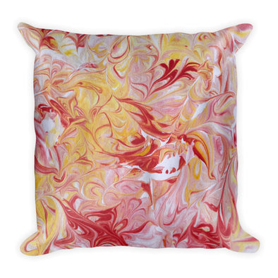 Sunset Swirls Square Pillow