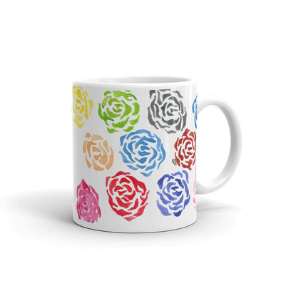 Abstract Flowers Mug