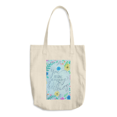 Flower Child Cotton Tote Bag