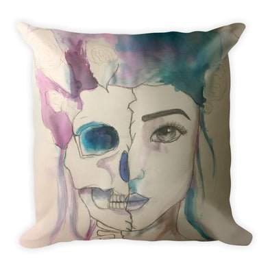 Watercolor Square Pillow