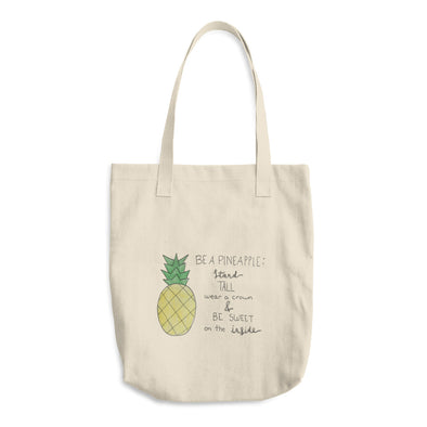 Be A Pineapple Cotton Tote Bag