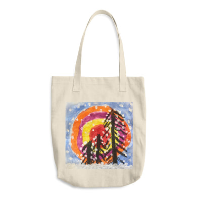 Winter View Cotton Tote Bag