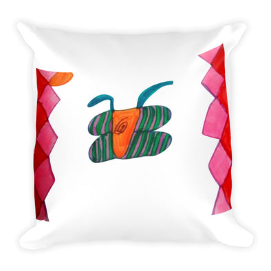 Abstract Butterfly Diamond Square Pillow