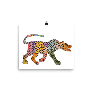 A rainbow coloured cheetah Poster