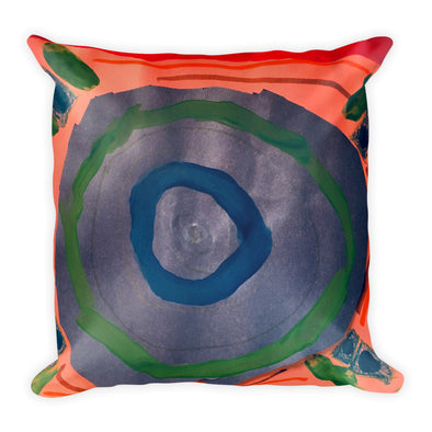 Rocketship Square Pillow