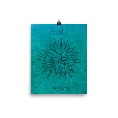 Good Vibes in Flowers Poster