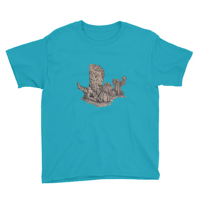 Desert Tree Stump, but more detailed Youth Short Sleeve T-Shirt