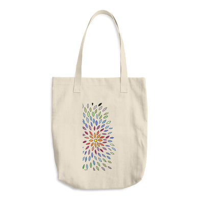 Petals of the Sunflower Cotton Tote Bag