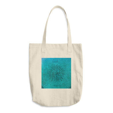 Good Vibes in Flowers Cotton Tote Bag