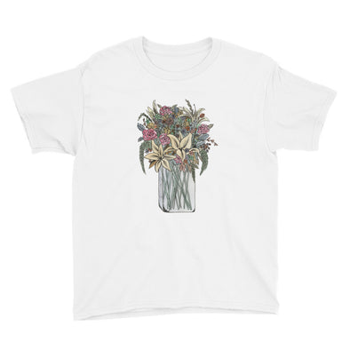 Bouquet of Flowers Youth Short Sleeve T-Shirt