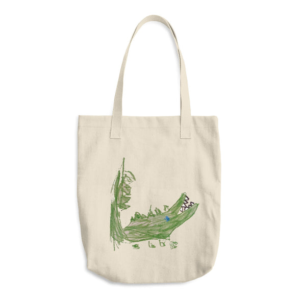Allie Alligator Cotton Tote Bag