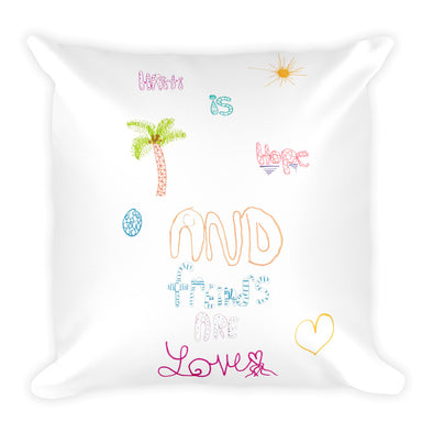 A Friend's Travel Square Pillow