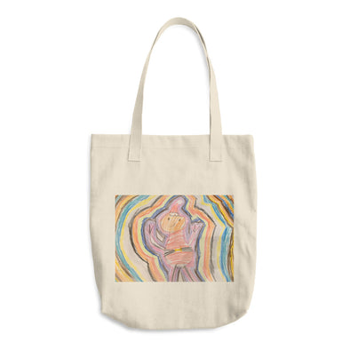 Line Monster Cotton Tote Bag