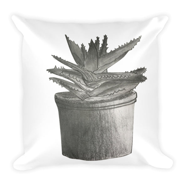 Aloe Plant Square Pillow