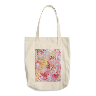 Sunset Swirls Cotton Tote Bag