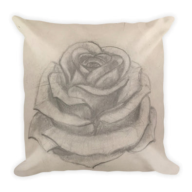 Rose Square Pillow
