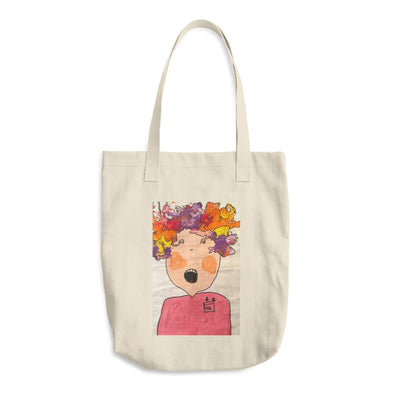 Girl on Fire Cotton Tote Bag