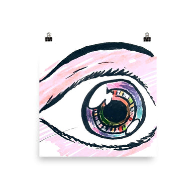 Eyeballing Colored Poster