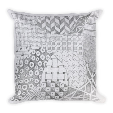 Zentangle Square Pillow