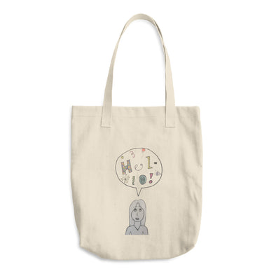 Hello Cotton Tote Bag