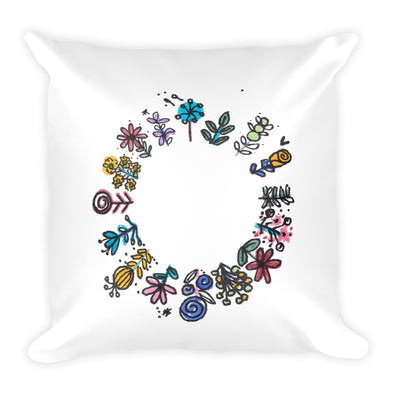 All Around Pretty Square Pillow