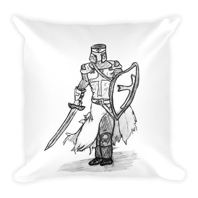 The Knight of Old Square Pillow
