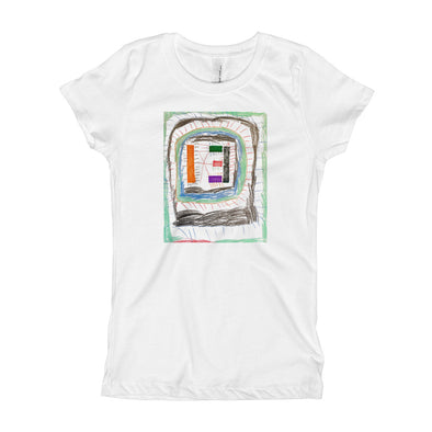 Line Monster Girl's T-Shirt