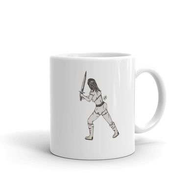Girl With a Sword Mug
