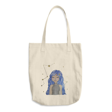 The Girl of Stars Cotton Tote Bag