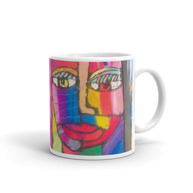 Woman With Many Colors Mug
