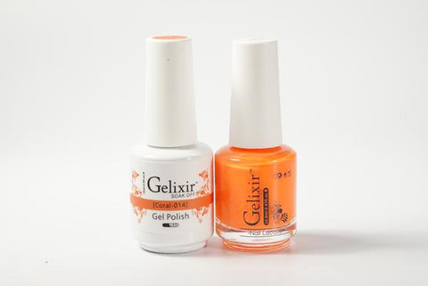 #014 – Gelixir Duo Gel polish – Coral