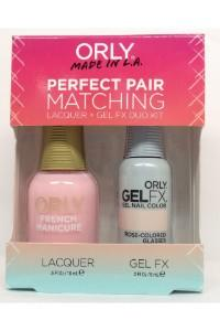 Orly Perfect Pair Lacquer & Gel FX, 31129, Rose-colored Glasses