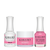 Kiara Sky 3in1 Dipping Powder + Gel Polish + Nail Lacquer - Electro Pop Collection, DGL 613, Bubble Yum