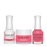 Kiara Sky 3in1 Dipping Powder + Gel Polish + Nail Lacquer - Electro Pop Collection, DGL 615, Grapefruit