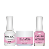 Kiara Sky 3in1 Dipping Powder + Gel Polish + Nail Lacquer - Electro Pop Collection, DGL 618, 90's Baby