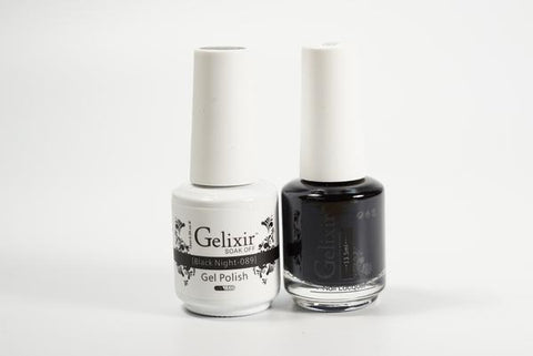 #089 – Gelixir Duo Gel polish – Black Night