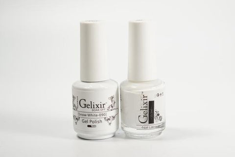#090 – Gelixir Duo Gel polish – Snow White