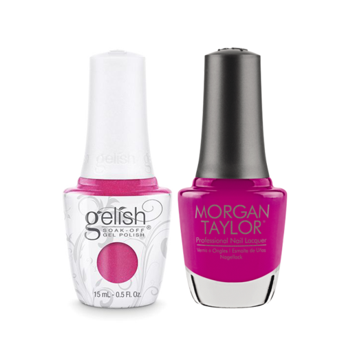 Gelish Gel Polish & Morgan Taylor Nail Lacquer, Amour Color Please, 0.5oz, 1110173 + 50173