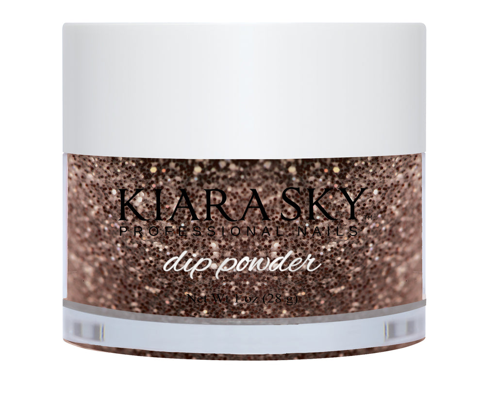 Kiara Sky Dip Powder - D467 CHOCOLATE GLAZE 1oz