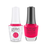 Gelish Gel Polish & Morgan Taylor Nail Lacquer, Don't Pansy Around, 0.5oz, 1110202 + 50202