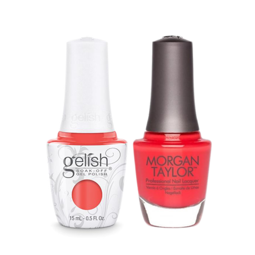 Gelish Gel Polish & Morgan Taylor Nail Lacquer, Fairest Of Them All, 0.5oz, 1110926 + 50122
