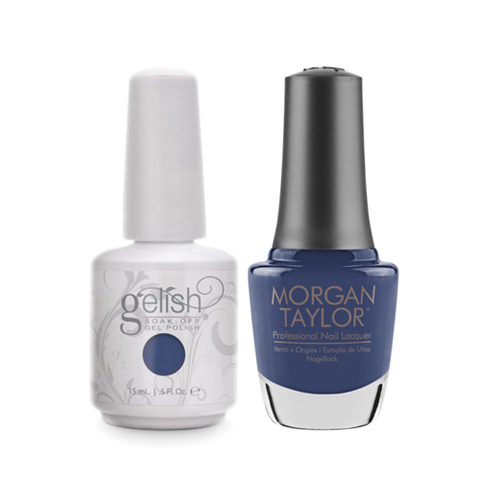 Gelish Gel Polish & Morgan Taylor Nail Lacquer, Flirt In A Skating Skirt , 0.5oz, 1100118+ 50243
