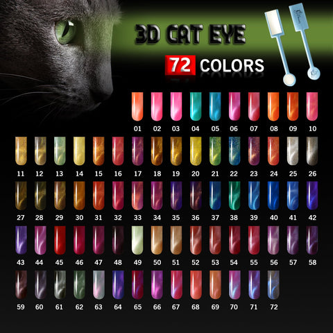 iGel 3D Cat Eye 20% Off Professional Full Collection (72 Colors)