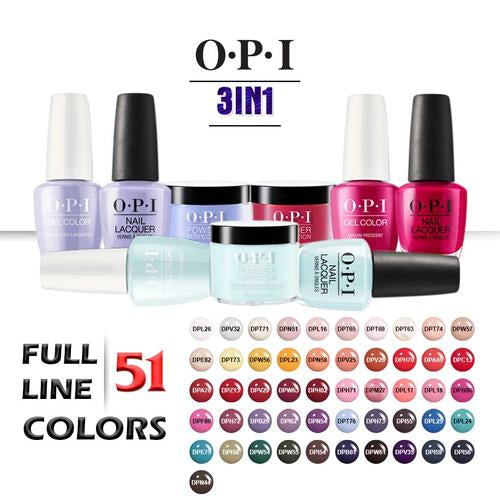OPI 3in1 Dipping Powder + Gel Polish + Nail Lacquer, 1.5oz, Full line of 51 new colors