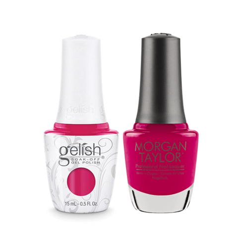 Gelish Gel Polish & Morgan Taylor Nail Lacquer, Gossip Girl, 0.5oz, 1110819 + 50020