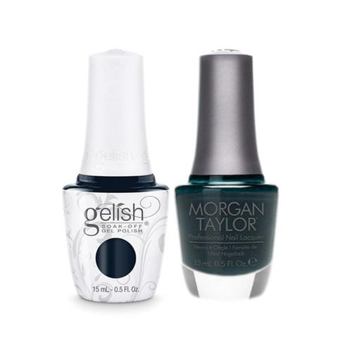 Gelish Gel Polish & Morgan Taylor Nail Lacquer, I'm No Stranger To Love / Jungle Boogie  , 0.5oz, 1110918+ 50082
