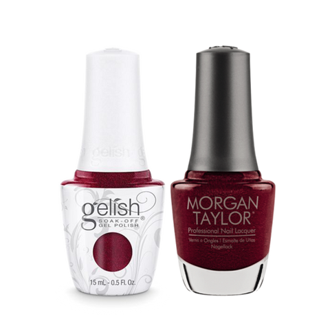Gelish Gel Polish & Morgan Taylor Nail Lacquer, I'm So Hot, 0.5oz, 1110190 + 50190