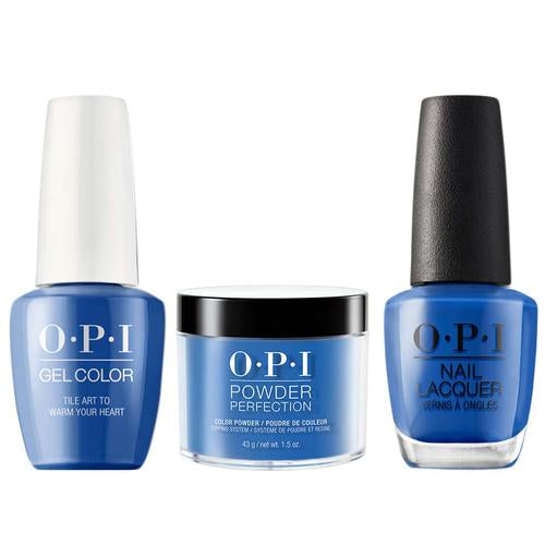 OPI 3in1, L25, Tile Art to Warm Your Heart